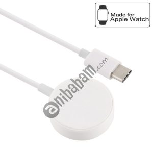 30cm Universal Portable Magnetic Wireless Charger for Apple Watch Series 4 & 3 & 2 & 1 (White)