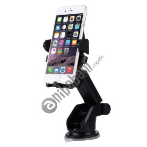 360 Degrees Rotation Car Air Vent Mount Silicone Sucker Holder Stand with Flexible Stretching Clip