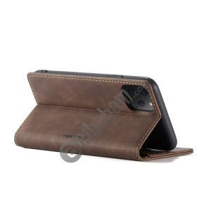 CaseMe-013 Multifunctional Horizontal Flip Leather Case with Card Slot & Holder & Wallet for iPhone 11 Pro Max (Coffee)