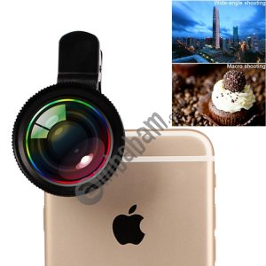 2 in 1 Universal Phone Lens 0.7X Super Wide Angle + 12X Macro Lens with Clip