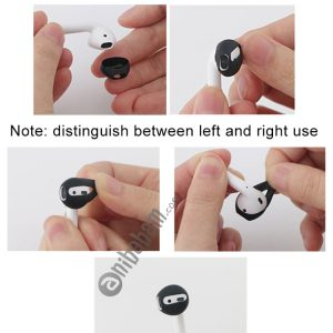 1 Pair Wireless Bluetooth Earphone Silicone Ear Caps Earpads for Apple AirPods