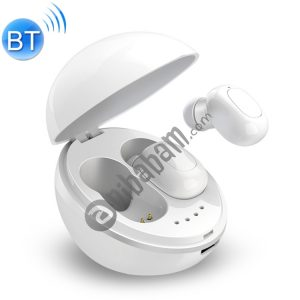 A10 TWS Space Capsule Shape Wireless Bluetooth Earphone with Magnetic Charging Box & Lanyard, Support HD Call & Automatic Pairing Bluetooth