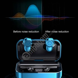 A6 TWS Bluetooth 5.0 Touch Wireless Bluetooth Earphone with Charging Box & LED Smart Digital Display, Support Voice Assistant & Memory Connection & HD Call