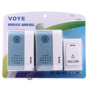 VOYE V004B2 Wireless Smart Music Home Doorbell with Dual Receiver, Remote Control Distance: 120m (Open Air)