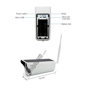 YS-Y4 1080P HD Solar Wifi Battery Camera, Support Motion Detection & Infrared Night Vision & SD Card (Max 32GB)