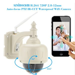 Szsinocam SN-HSP-4006 1080P 1/3 inch H.264 IR-Cut 4X Zoom Auto Focus Lens Waterproof WiFi IP PTZ Dome Camera, Night Vision Motion Detection, IR Distance: 30m