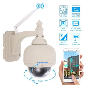 Szsinocam SN-HSP-4006 960P 1/4 inch H.264 IR-Cut 4X Zoom Auto Focus Lens Waterproof WiFi IP PTZ Dome Camera, Night Vision Motion Detection, IR Distance: 30m