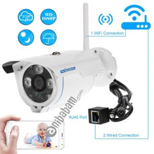 Szsinocam SN-IPC-3009FCSW10 HD 720P H.264 1.0 Megapixel WiFi Infrared IP Bullet Camera, Support Night Vision / Motion Detection, IR Distance: 20-30m