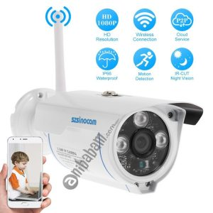 Szsinocam SN-IPC-3009FCSW20 HD 1080P H.264 2.0 Megapixel WiFi Infrared IP Bullet Camera, Support Night Vision / Motion Detection, IR Distance: 20-30m