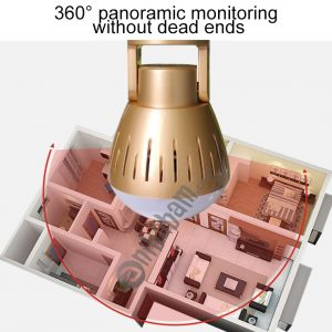 2.0 Megapixel Panoramic Universal Light Bulb Camera