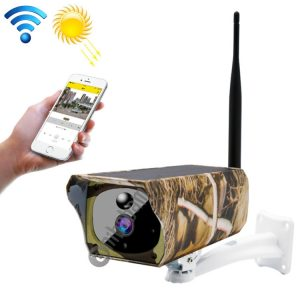 VESAFE VS-Y4 Maple Leaf Pattern 1080P HD Battery Solar WiFi IP Camera, Support PIR Motion Detection & Infrared Night Vision & TF Card (64GB Max)