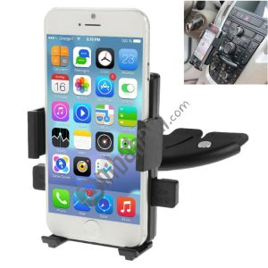 360 Degrees Rotating Car Mobile Phone Holder Install on Vehicle CD Player Disk Slot Stand Mount