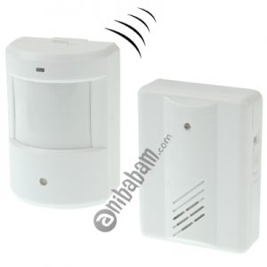 Electro Guard Watch IR Remote Detection System / Wireless Doorbell (White)