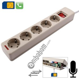 5 Way Universal Interface Power Extension Socket Style Audio Monitor with Automatic Callback