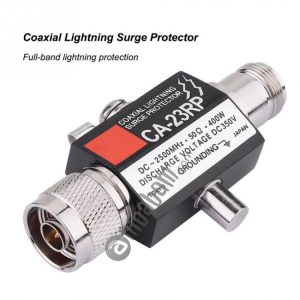 CA-23RS 400W 2500MHz Lighting Arrestor N Male Plug to N Female Coaxial Lightning Surge Protector