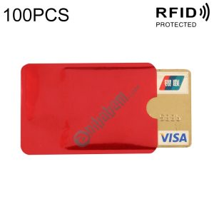 100 PCS Aluminum Foil RFID Blocking Credit Card ID Bank Card Case Card Holder Cover, Size: 9 x 6.3cm