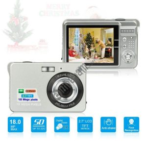 2.7 inch 18 Megapixel 8X Zoom HD Digital Camera Card-type Automatic Camera for Children, with SD Card Slot