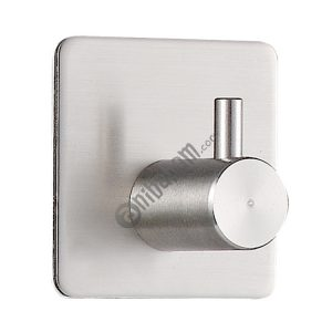 Stainless Steel Cylinder Hanger Bathroom Non-perforated Storage Clothes Hook, Size:16mm