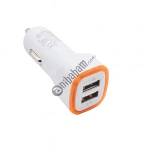 Qi Auto Dual 2 USB Ports 5V 2A Car Charger for iPhone, SmartPhones, Android, Tablets