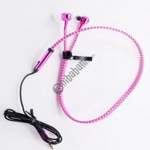 The latest zipper headset / earphone, 3.5mm interface easy to carry