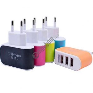 Super Fast charging mobile phone charger 3 USB Port Micro, Wall Power Adapter EU/US Plug
