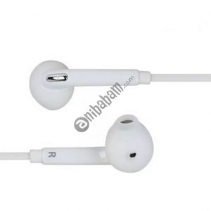 Black and White headset 3.5mm, mobile phone interface for smart phone