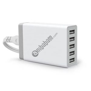 Multiport USB Charger 5-port USB charging station for mobile phones and tablets