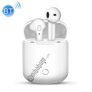 i8S Bluetooth Headset 5.0 Copper Ring Speaker Double Ear True Stereo Touch Bluetooth Headset