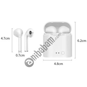 i7 mini TWS Hi-Fi Stereo Dual Noise Reduction Wireless Bluetooth 4.2+EDR Earphones with Charging Case