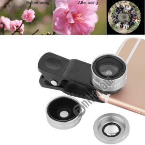 ZOMEI P1 3 in 1 Universal 0.36X Wide Angle Lens + 180 Degrees Lens + Lens Clip