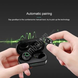 Langsdom T5 Stereo Wireless Bluetooth Earphone with Charging Box, Support HD Call & Siri (Black)