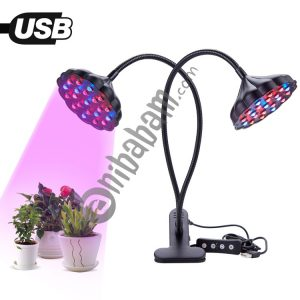 20W Dual Lotus Heads Adjustable Spectrum Timing LED Lamp for Plant Growth Lighting