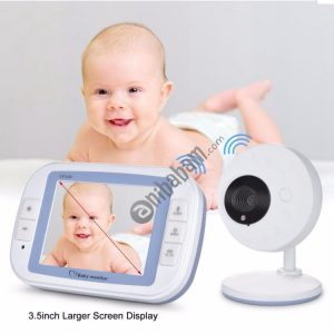 3.5 Inch Larger Screen Display Wireless Digital Monitoring Camera Baby Career Monitor Wireless Baby Monitor, US Plug SP851 (Black & White)