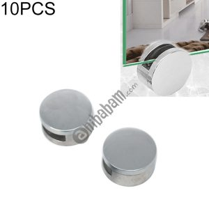 10 PCS Circular Glass Mirror Holder Buckle Fixing Accessories with Screw & Rubber Plug
