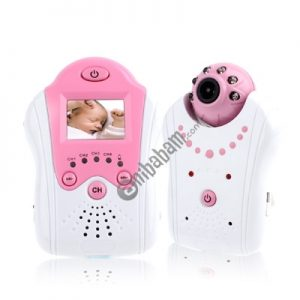 2.4GHz Wireless Baby Monitor with 1.5 inch LCD Display / Night Vision, Built-in Rechargeable Li-battery(Pink)