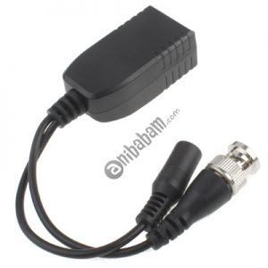 1-CH Passive Power & Video Balun Connector