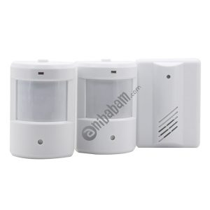 1 to 2 PIR Infrared Sensors Wireless Doorbell Alarm Detector for Home / Office