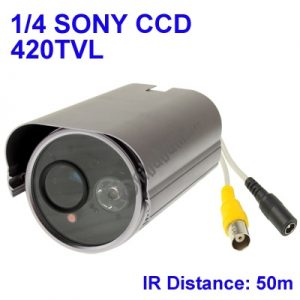 1 / 4 SONY 420TVL Digital Color Video CCTV Waterproof Camera, IR Distance: 50m