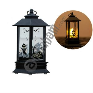 2 PCS Halloween Portable Simulation Flame Light Decoration Props Desktop Decoration