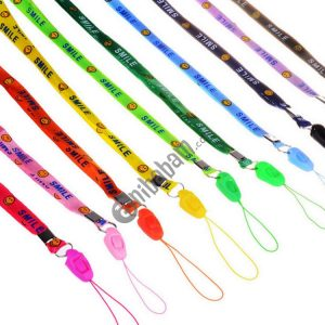 100 PCS Smiling Face Lanyards for ID Card Working Card Badge