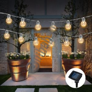 3.8m 10 LEDs IP65 Waterproof Solar Powered Bulbs LED String Lights Outdoor Courtyard Street Garden Decoration Lamp