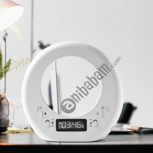 Creative Moon Alarm Clock USB Rechargeable Touch Bed Dormitory LED Night Light