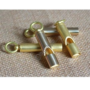 5 PCS Keychain Vintage Brass Whistle Loud Outdoor Camping Train Rescue Survival Whistle Personal Protection Tool Self Defense