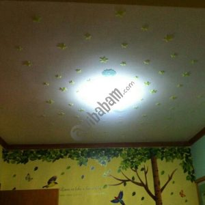 100 PC Kids Bedroom Glow Wall Stickers Stars