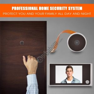 3.5 inch Digital Door Camera Doorbell LCD Color Screen 120 Degrees Peephole Viewer Door Eye Doorbell Outdoor Door Bell (Silver)