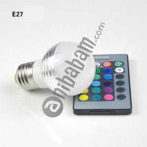3W RGB LED Bulb 16 Color Magic Night Lamp Dimmable Stage Light with 24-keys Remote Control E27