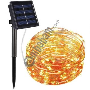 22m 200 LEDs Solar Powered Home Garden Copper Wire String Fairy Light Outdoor Christmas Party Decor Strip Lamp with 8 Modes