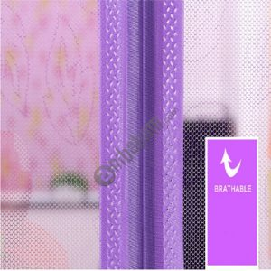 2 PCS Curtain Anti Mosquito Magnetic Tulle Shower Curtain Automatic Closing Door Screen Summer Style Mesh Net