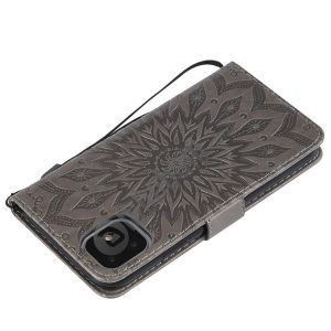 Pressed Printing Sunflower Pattern Horizontal Flip PU Leather Case for iPhone 11, with Holder & Card Slots & Wallet & Lanyard