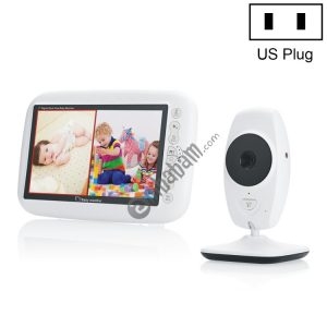 7Inch Larger Screen Display Wireless Digital Monitoring Camera Baby Career Monitor Wireless Baby Monitor SP870 (AU/EU/UK/US Plug)
